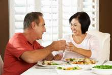 stock photo of couple enjoying meal